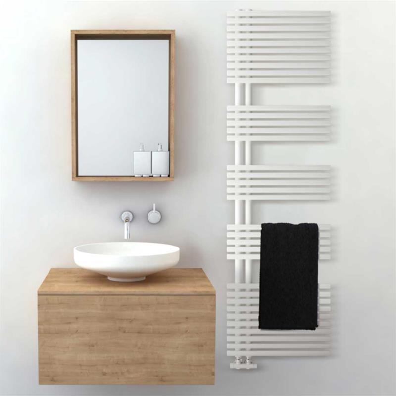 Colonna Arredo Bagno Bari.Termoarredo Design Bari Lazzarini 1120x500 Interasse 50 Bianco