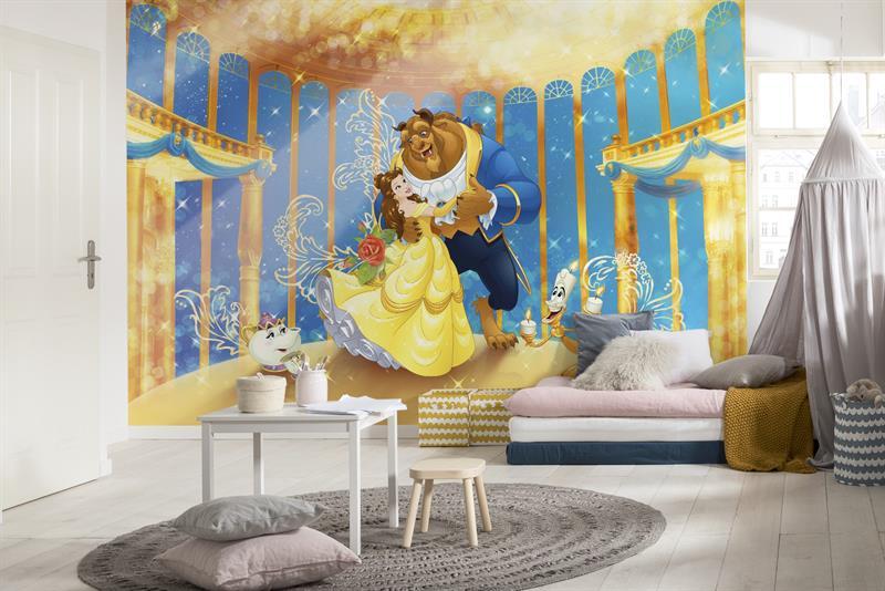 Fotomurale la bella e la bestia disney decorazione carta da