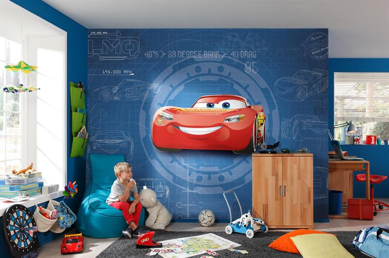 Fotomurale cars blueprint disney pixar decorazione carta da