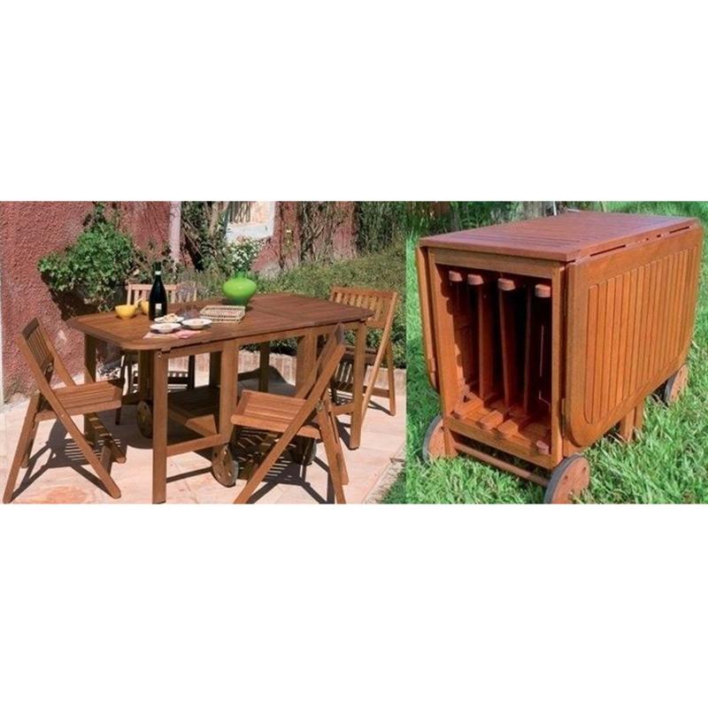 Mobili Per Giardino E Terrazzo.Set Tavolo Pieghevole 4 Sedie Arredo Giardino E Terrazzo Mobili
