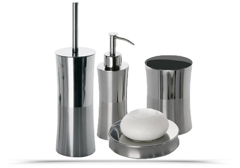 Set 4 accessori bagno gedy primula arredo bagno accessori da bagno