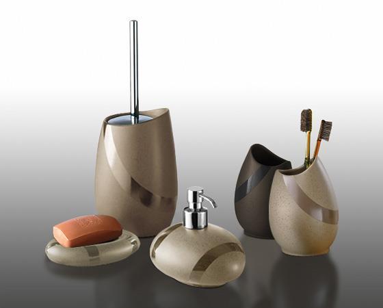 Set 3 accessori bagno gedy stone arredo bagno accessori da bagno