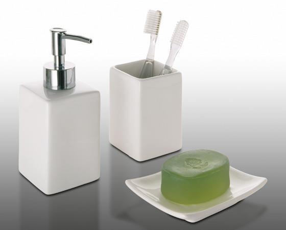 Set 3 accessori bagno gedy verbena arredo bagno accessori da bagno